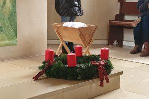 Adventskranz für die St. Georgskirche